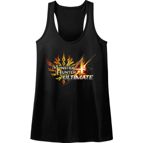 Image for Monster Hunter MH4 Logo Juniors Racerback Tank Top