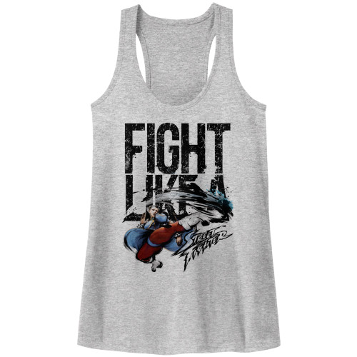 Image for Street Fighter FIght Like a Girl Juniors Racerback Tank Top