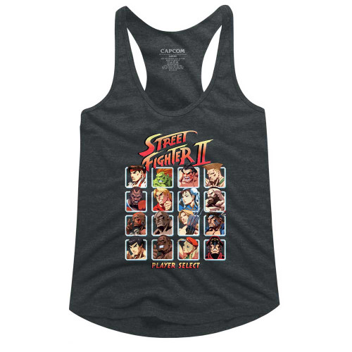 Image for Street Fighter Super Turbo HD Select Juniors Racerback Tank Top