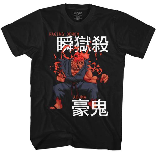 Image for Street Fighter T-Shirt - Akuma Kanji