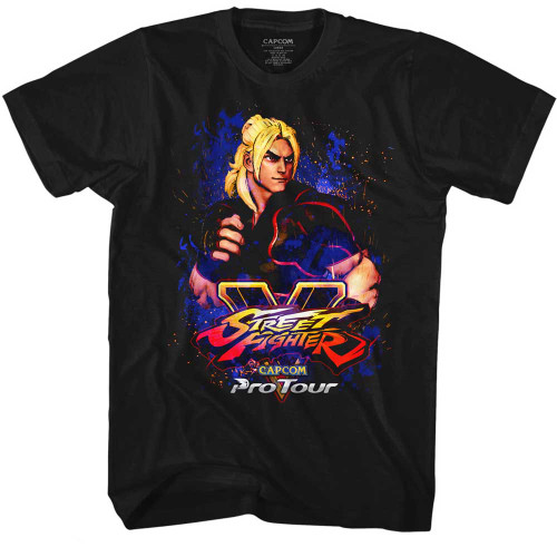 Image for Street Fighter T-Shirt - Pro Tour - Ken