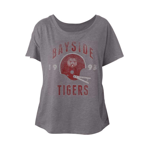 Image for Saved by the Bell Tiger Helmet Juniors Dolman Top