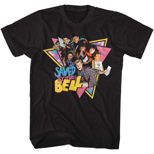 Image for Saved by the Bell T-Shirt - Group Triangles