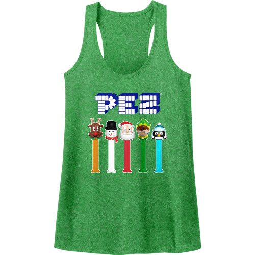Image for Pez Juniors Heather Tank Top - Christmas Pez