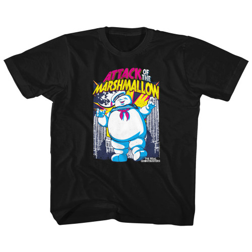 Image for The Real Ghostbusters Marshmallow Attacks Toddler T-Shirt
