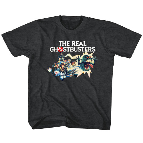 Image for The Real Ghostbusters Car Chase Toddler T-Shirt