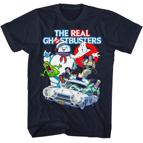 Image for The Real Ghostbusters T-Shirt - Collage