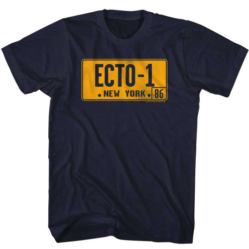 Image for The Real Ghostbusters T-Shirt - ECTO-1 Plate