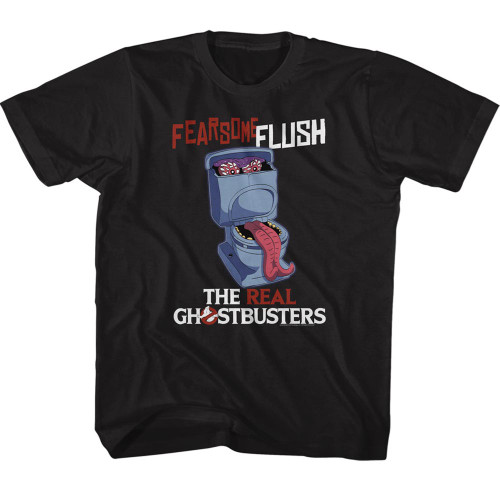 Image for The Real Ghostbusters Fearsome Flush Youth T-Shirt