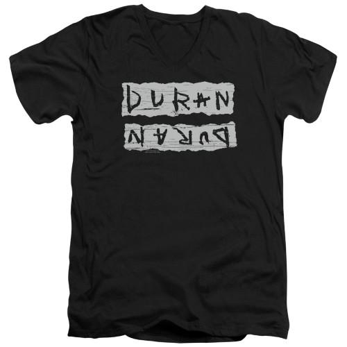 Image for Duran Duran V-Neck T-Shirt Print Error