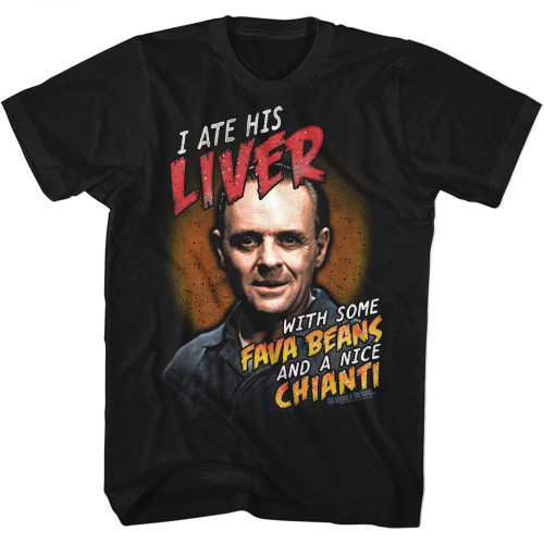 Image for Silence of the Lambs Fava Beans and Chianti T-Shirt
