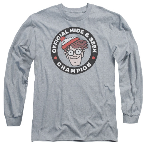 Image for Where's Waldo Long Sleeve Shirt - Champion