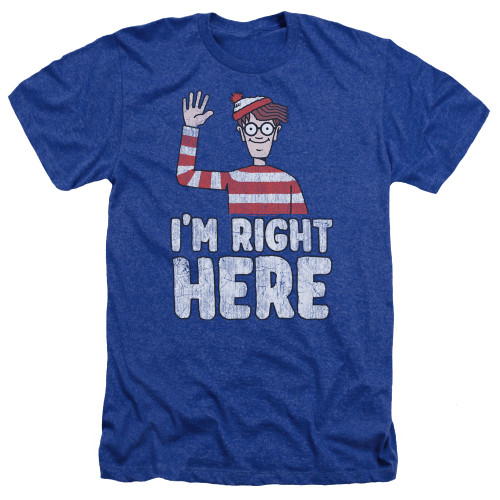 Image for Where's Waldo Heather T-Shirt - I'm Right Here