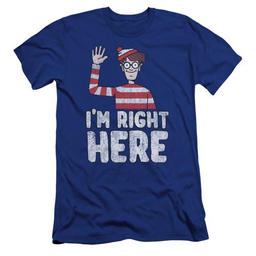 Image for Where's Waldo Premium Canvas Premium Shirt - I'm Right Here