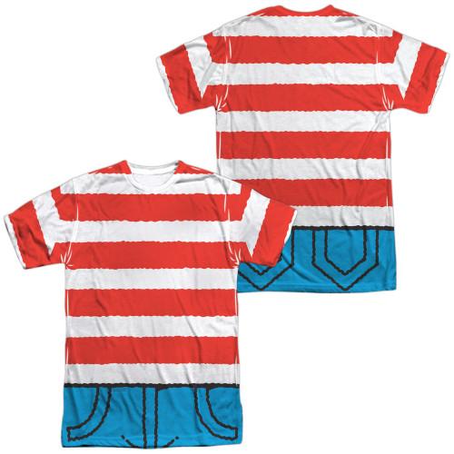 Image for  Where's Waldo Sublimated T-Shirt - Waldo Costume 100% Polyester