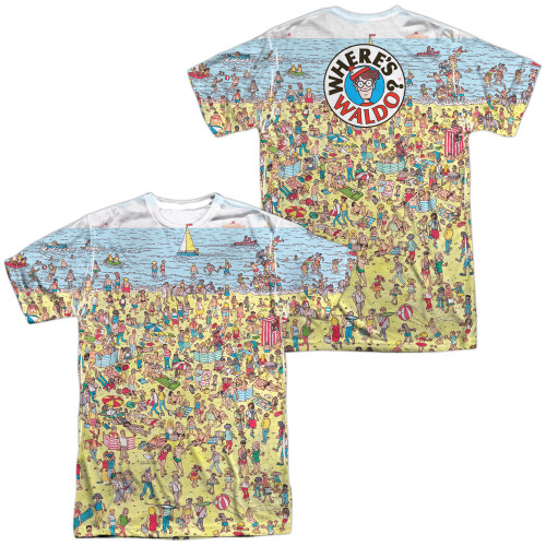 Image for Where's Waldo Sublimated T-Shirt - Beach Scene  100% Polyester