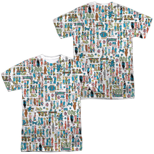 Image for Where's Waldo Sublimated T-Shirt - Figures  100% Polyester