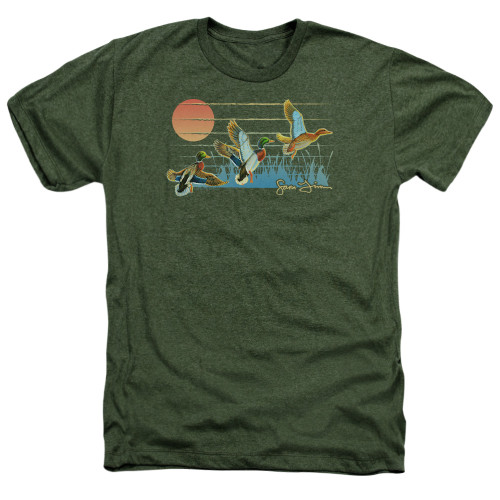 Image for Wild Wings Collection Heather T-Shirt - Three Ducks