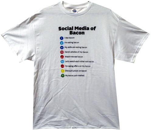 Image for Bacon T-Shirt - Social Media of Bacon