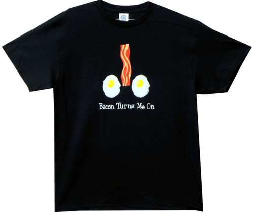 Image for Bacon T-Shirt - Bacon Turns Me On