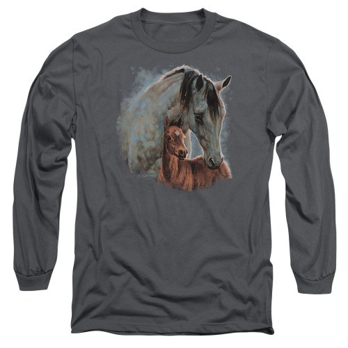 Image for Wild Wings Collection Long Sleeve Shirt - Painted Horses