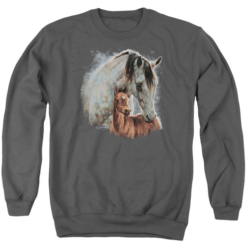 Image for Wild Wings Collection Crewneck - Painted Horses