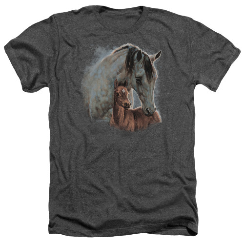 Image for Wild Wings Collection Heather T-Shirt - Painted Horses