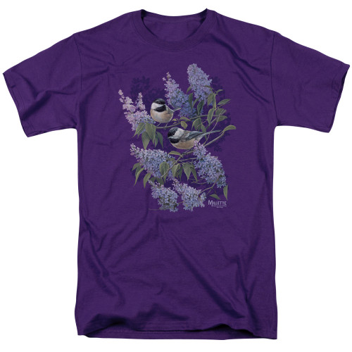 Image for Wild Wings Collection T-Shirt - Chickadees and Lilacs