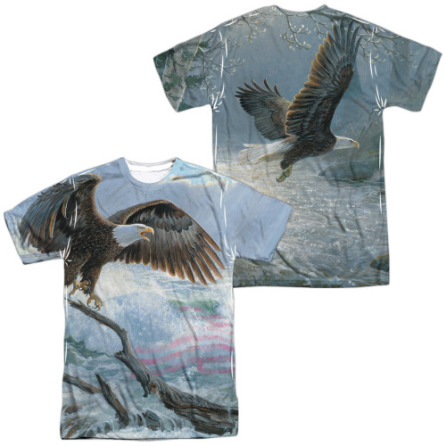 Image for Wild Wings Collection Sublimated T-Shirt - American Eagle 100% polyester