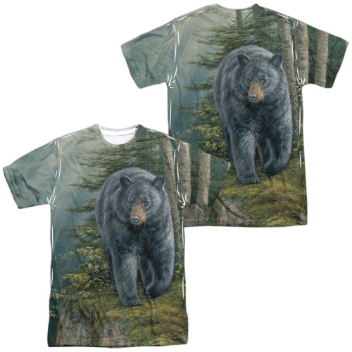 Image for Wild Wings Collection Sublimated T-Shirt - Black Bear 100% polyester