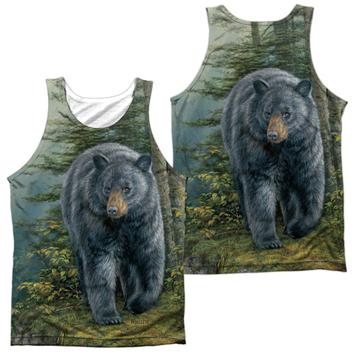 Image for Wild Wings Collection Sublimated Tank Top - Black Bear