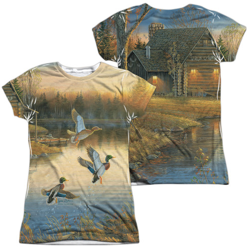 Image for Wild Wings Collection Girls Sublimated T-Shirt - Ducks Over Water