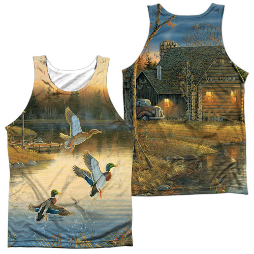 Image for Wild Wings Collection Sublimated Tank Top - Ducks Over Water