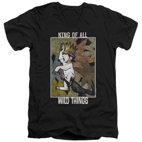 Image for Where the Wild Things Are V Neck T-Shirt - King of All Wild Things