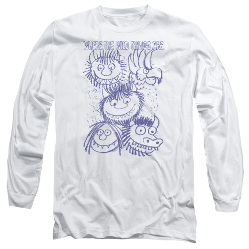 Image for Where the Wild Things Are Long Sleeve Shirt - Wild Sketch