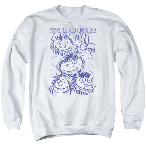 Image for Where the Wild Things Are Crewneck - Wild Sketch