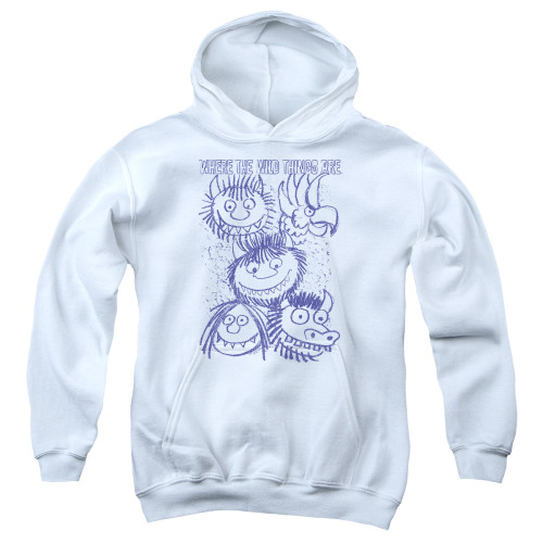 Image for Where the Wild Things Are Youth Hoodie - Wild Sketch