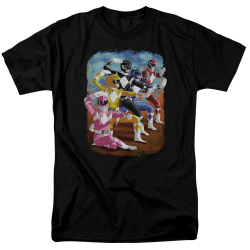 Image for Mighty Morphin Power Rangers T-Shirt - Impressionist Rangers
