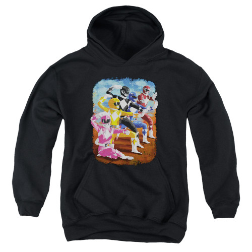 Image for Mighty Morphin Power Rangers Youth Hoodie - Impressionist Rangers