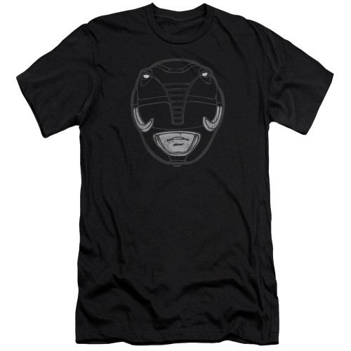 Image for Mighty Morphin Power Rangers Premium Canvas Premium Shirt - Black Ranger Mask