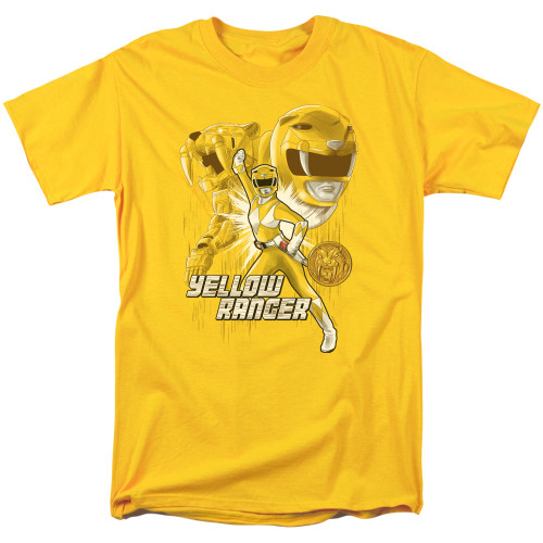 Image for Mighty Morphin Power Rangers T-Shirt - Yellow Ranger