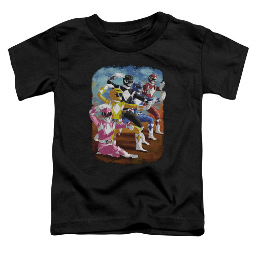 Image for Power Rangers Toddler T-Shirt - Impressionist Rangers
