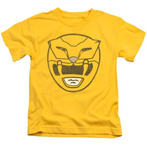 Image for Power Rangers Kids T-Shirt - Yellow Power Mask