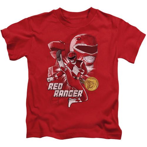 Image for Power Rangers Kids T-Shirt - Red Ranger