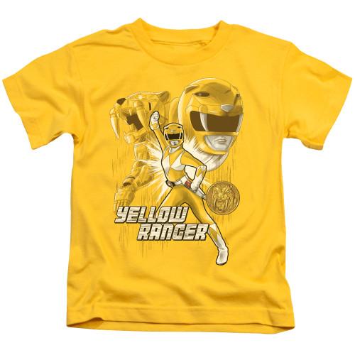 Image for Power Rangers Kids T-Shirt - Yellow Ranger