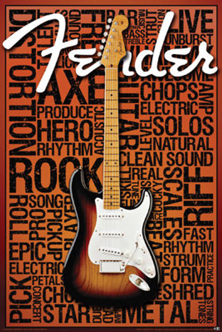 Image for Fender Poster - Music Words
