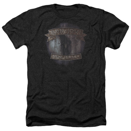 Image for Bon Jovi Heather T-Shirt - New Jersey