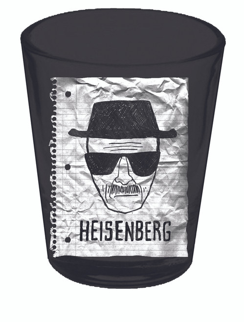 Image for Breaking Bad Shot Glass - Heisenberg Sketch