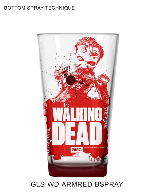 The Walking Dead Pint Glass - Red Dead Walker