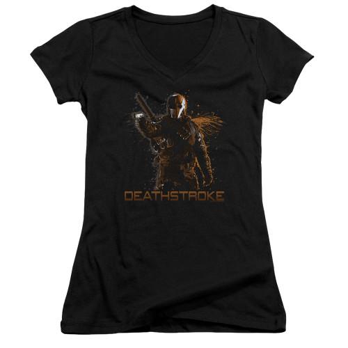 Image for Arrow Girls V Neck T-Shirt - Deathstroke
